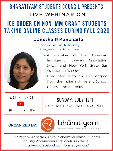 Webinar – ICE Order on N.I. Students