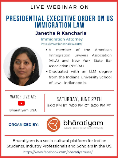 Webinar – P.O. on US Immigration Law