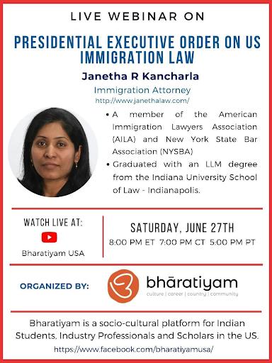 Webinar – P.O. on US Immigration Law
