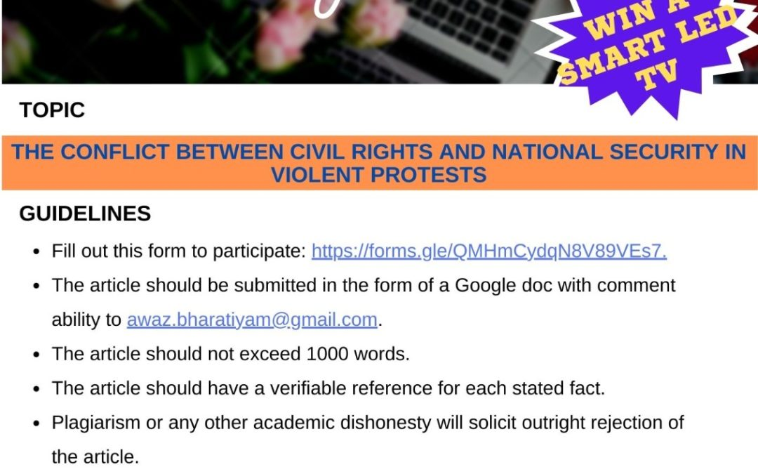 Writing Contest – Violent Protests